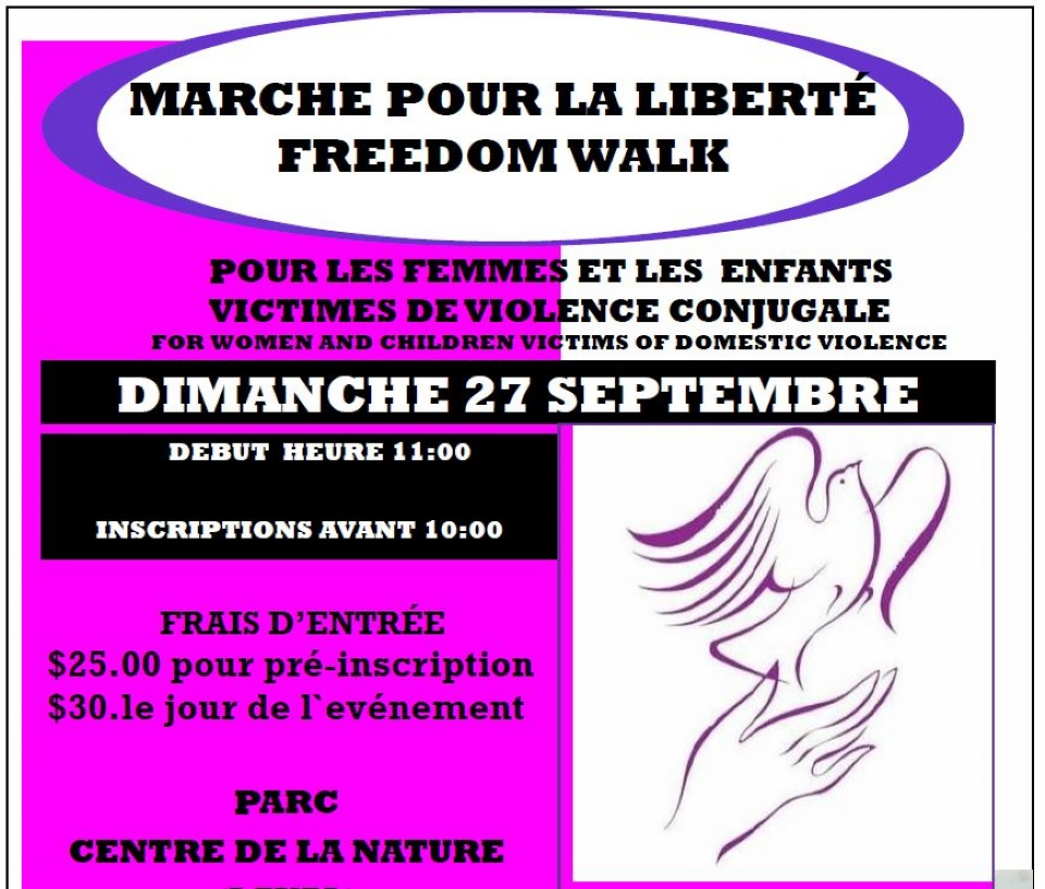Firşt Annual Freedom Walk to raişe awareneşş, money for victimş of domeştic violence | Laval Families Magazine | Laval's Family Life Magazine