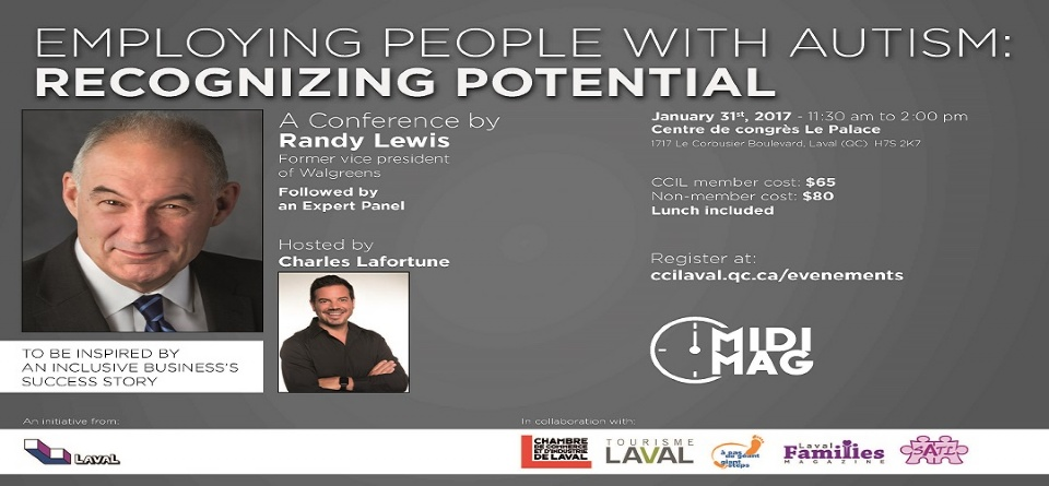 Creating Awareness and Job Opportunities – Randy Lewis Coming to Laval